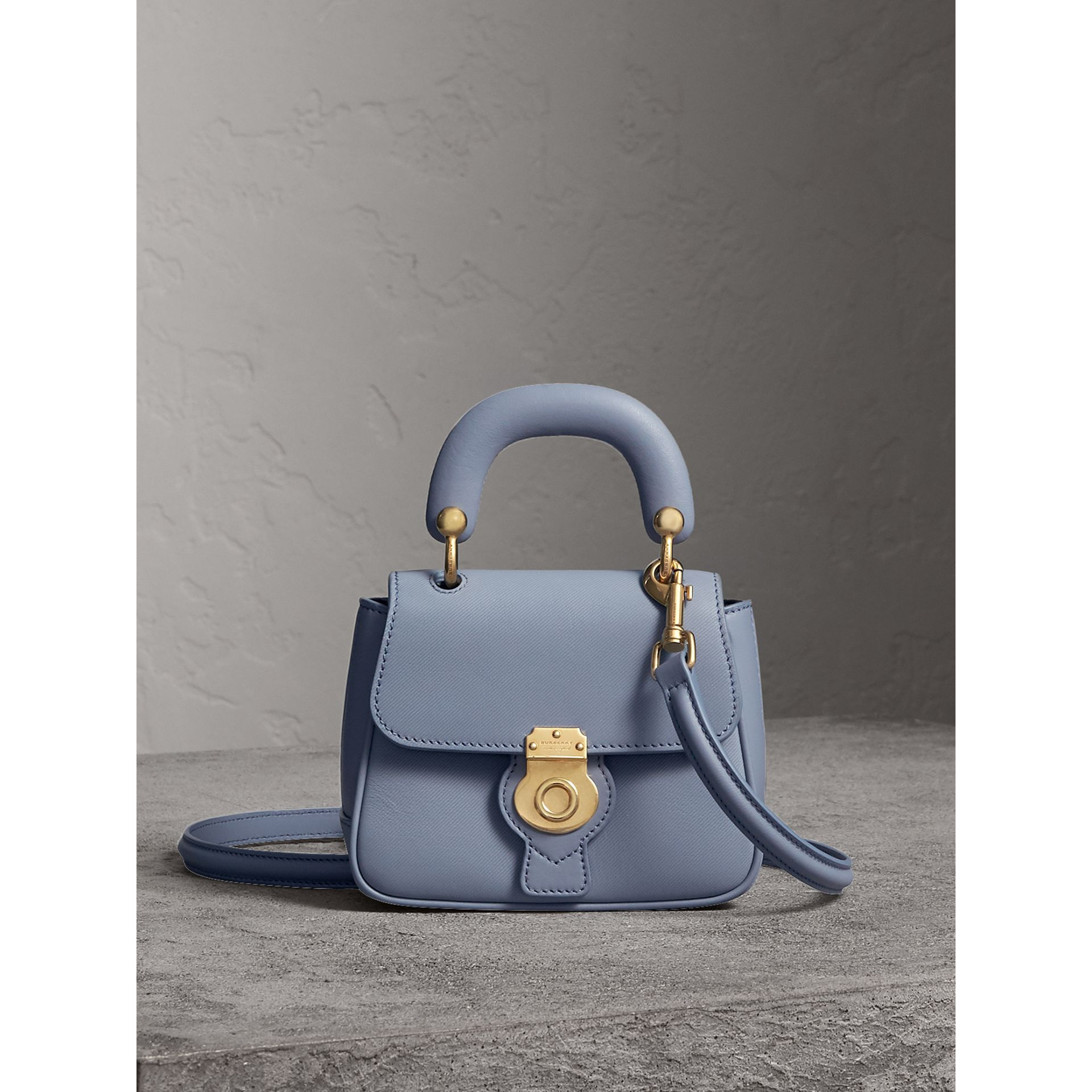 The Mini DK88 Top Handle Bag in Slate Blue - Women | Burberry - gallery image 0