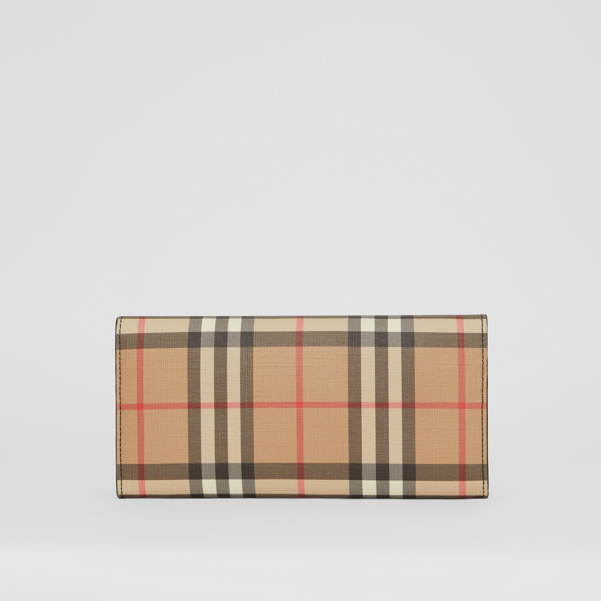 Vintage Check E-canvas Continental Wallet in Black - Women | Burberry Canada - gallery image 5