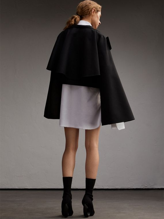 Bell-sleeve Double-faced Wool Cropped Jacket - cell image 2