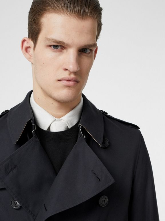 Cotton Gabardine Trench Coat in Midnight Navy - Men | Burberry Canada - cell image 1