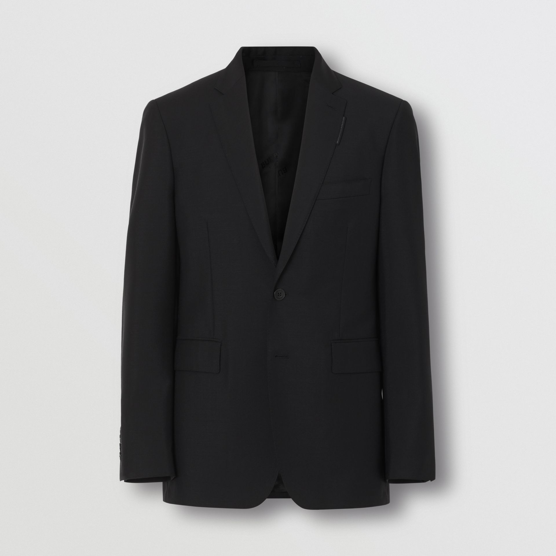 Slim Fit Wool Mohair Suit in Black - Men | Burberry United Kingdom - gallery image 2