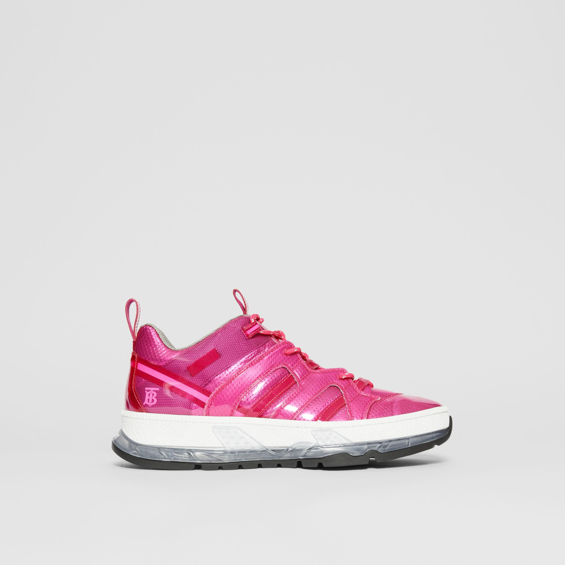 Sneakers Union en vinyle et nylon (Fuchsia) - Homme | Burberry - photo de la galerie 4
