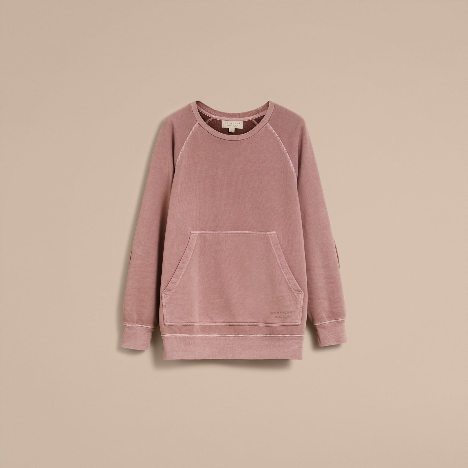 Unisex Pigment-dyed Cotton Oversize Sweatshirt Dusty Mauve - gallery image 4