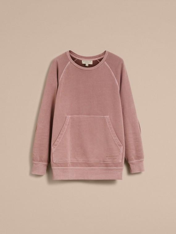 Unisex Pigment-dyed Cotton Oversize Sweatshirt Dusty Mauve - cell image 3