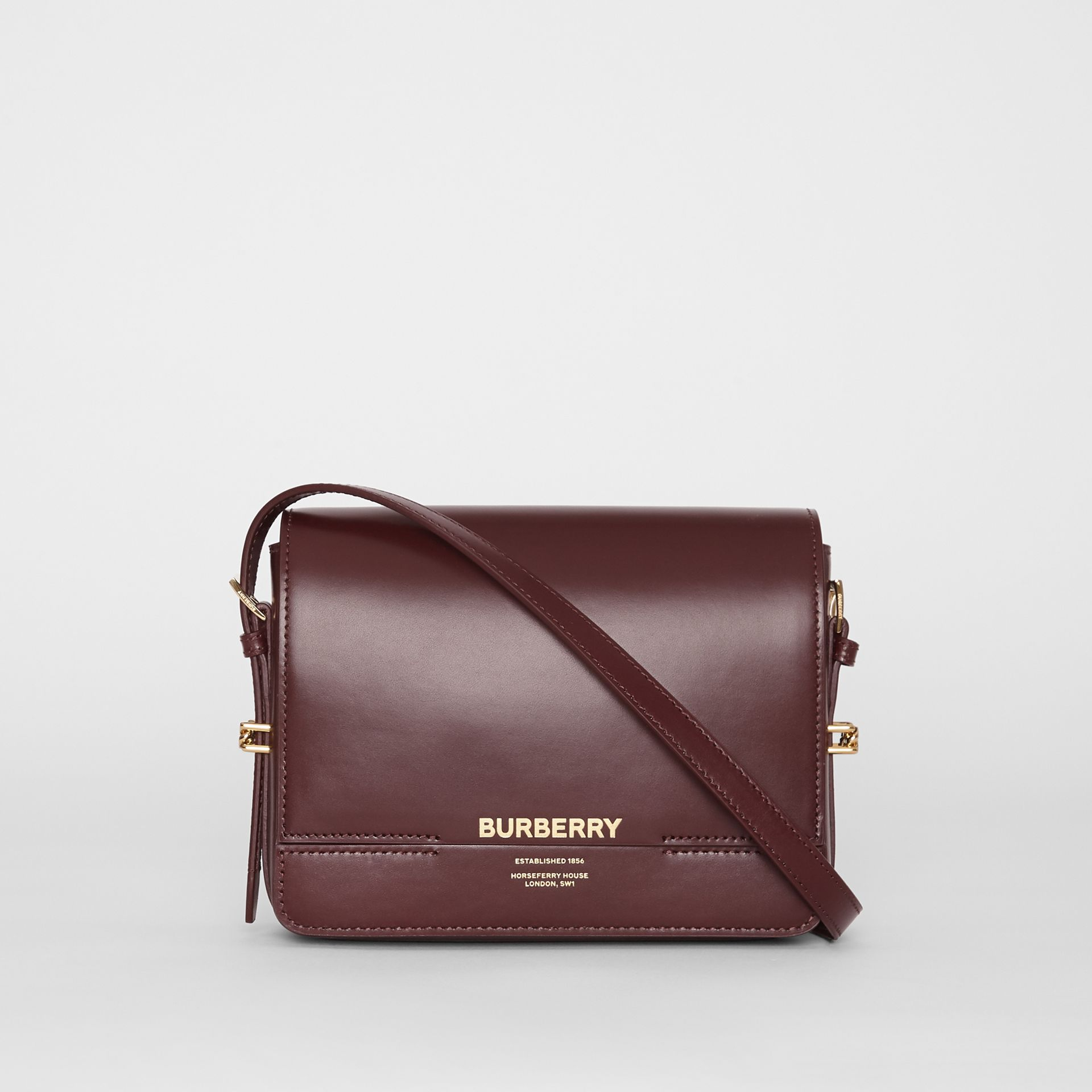 Petit sac Grace en cuir (Oxblood) - Femme | Burberry - photo de la galerie 0