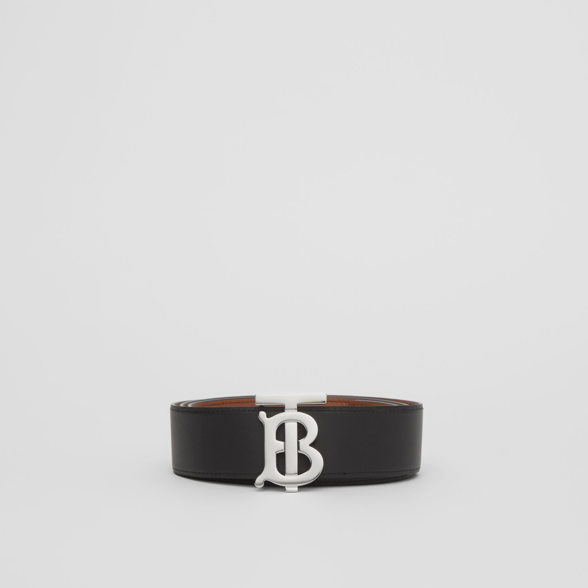 Reversible Monogram Motif Leather Belt in Malt Brown/black - Women | Burberry United Kingdom - gallery image 7