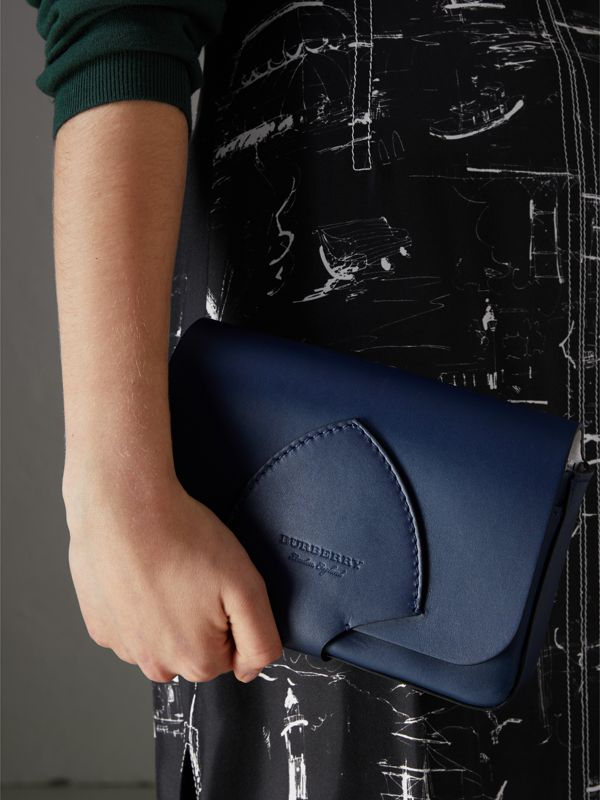 Equestrian Shield Leather Wallet with Detachable Strap in Mid Indigo - Women | Burberry - cell image 3