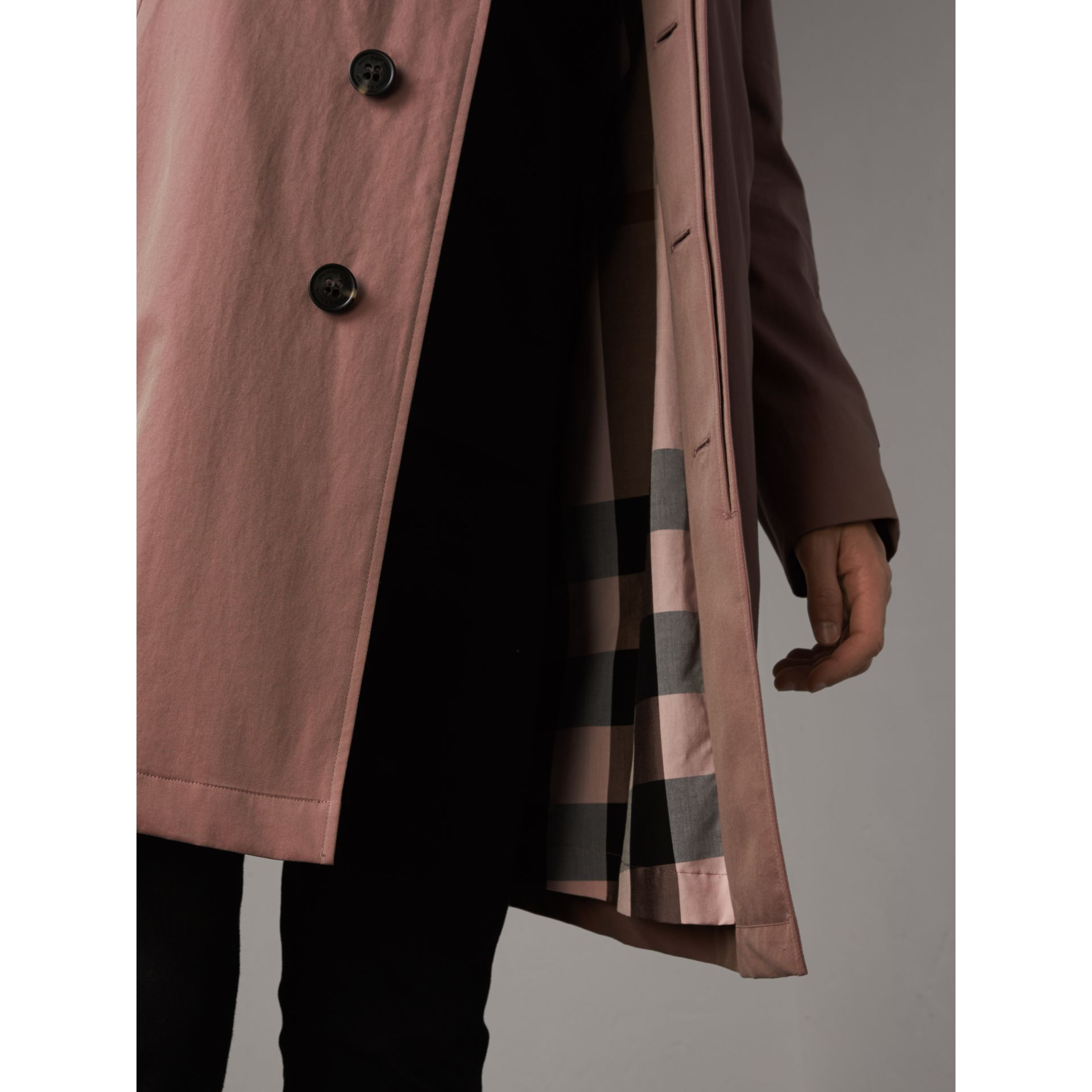 Tropical Gabardine Car Coat in Antique Rose - Men | Burberry - gallery image 2