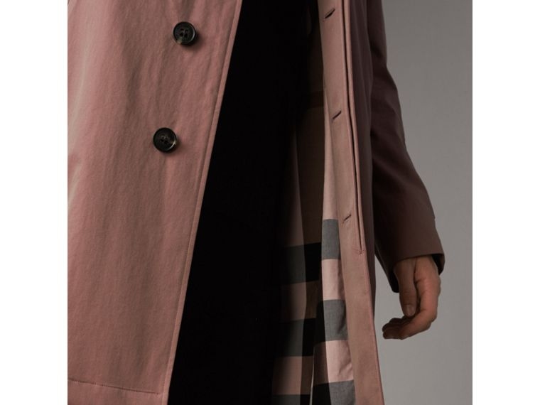Tropical Gabardine Car Coat in Antique Rose - Men | Burberry - cell image 1