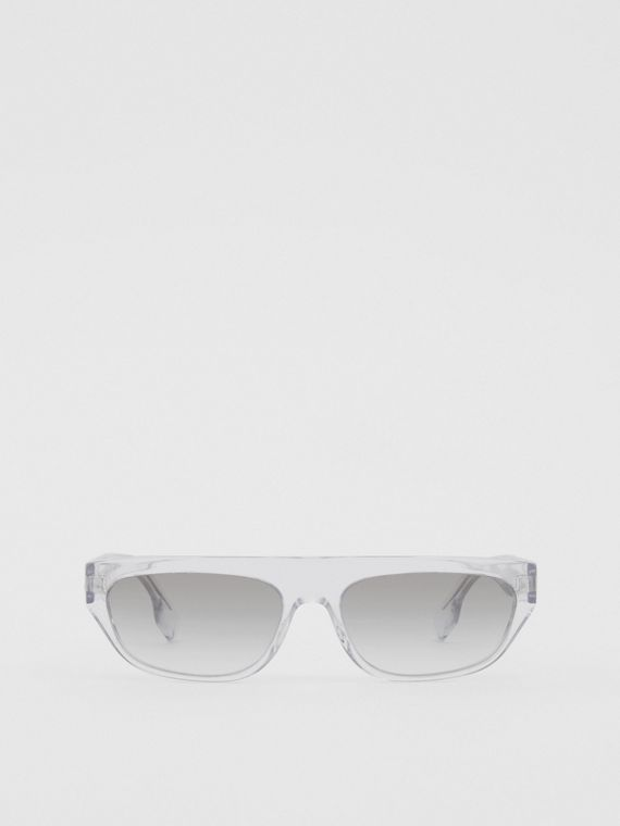 Monogram Motif Rectangular Frame Sunglasses in Crystal
