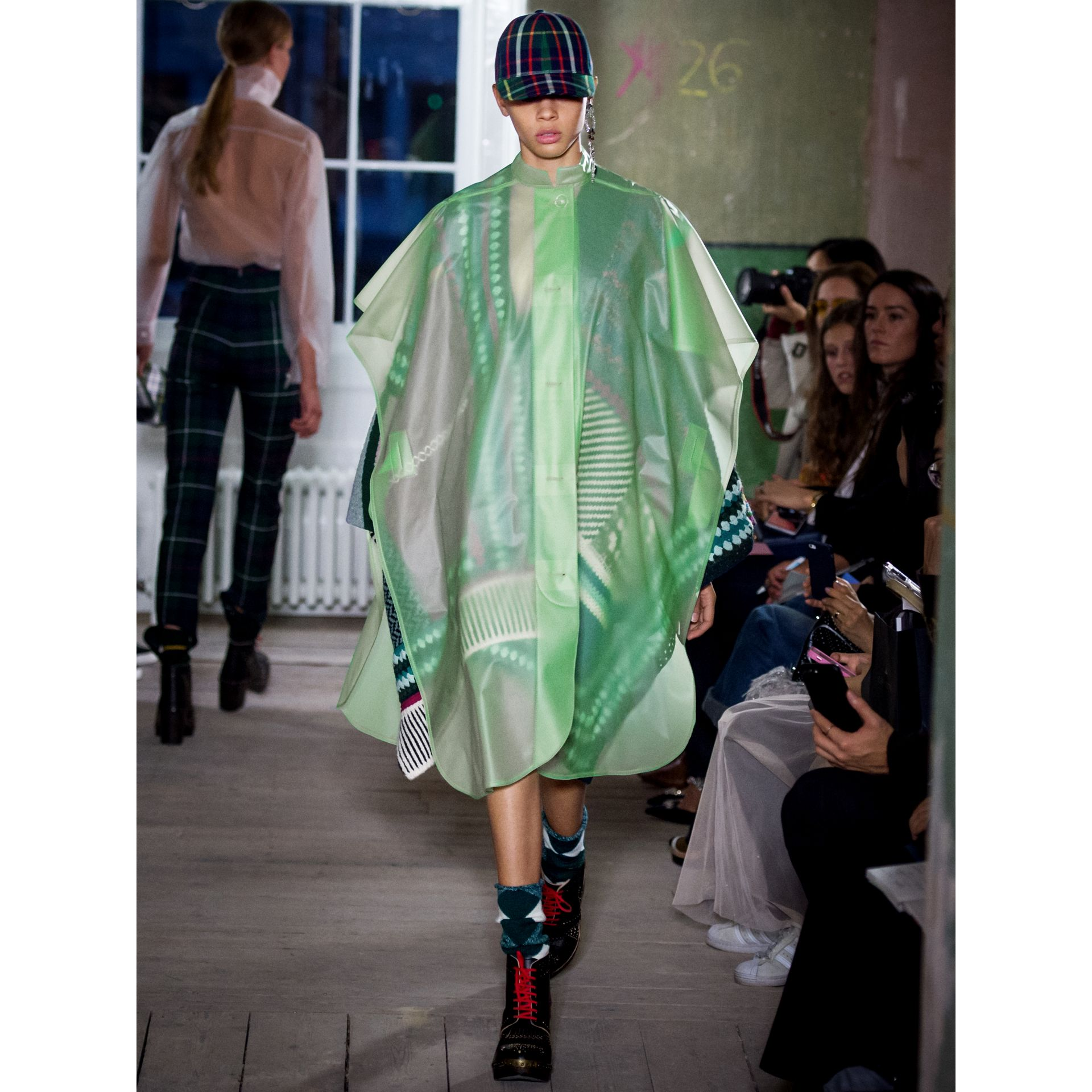 Soft-touch Plastic Poncho in Mint Green - Women | Burberry - gallery image 6