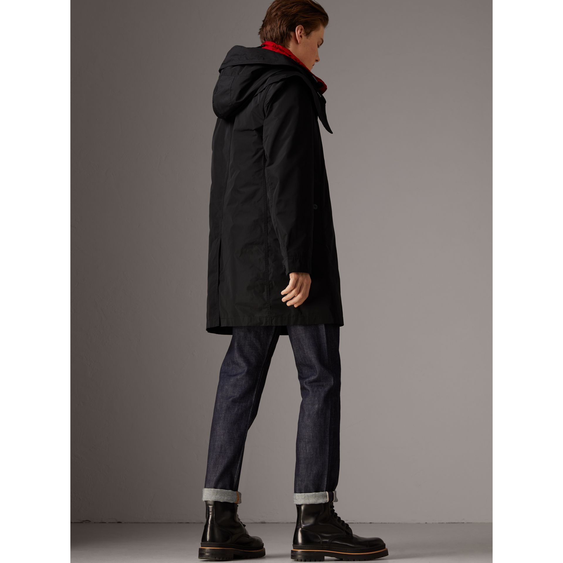 Taffeta Coat with Detachable Hood and Gilet in Black - Men | Burberry United States - gallery image 2