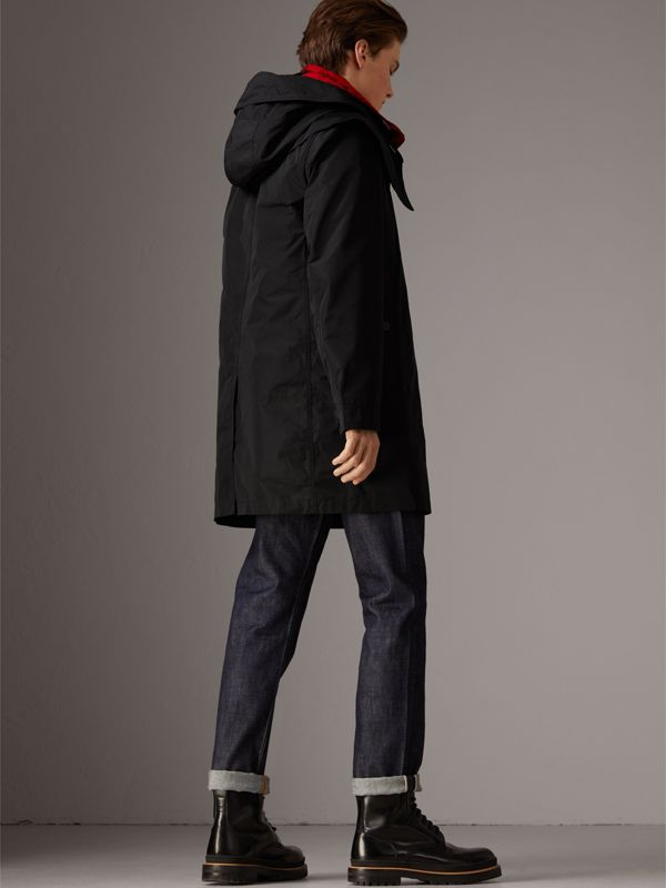Taffeta Coat with Detachable Hood and Gilet in Black - Men | Burberry United Kingdom - cell image 2