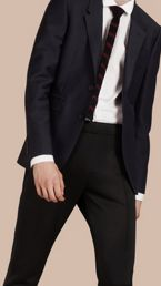 Slim Fit Stretch Mohair Wool Tailored Jacket