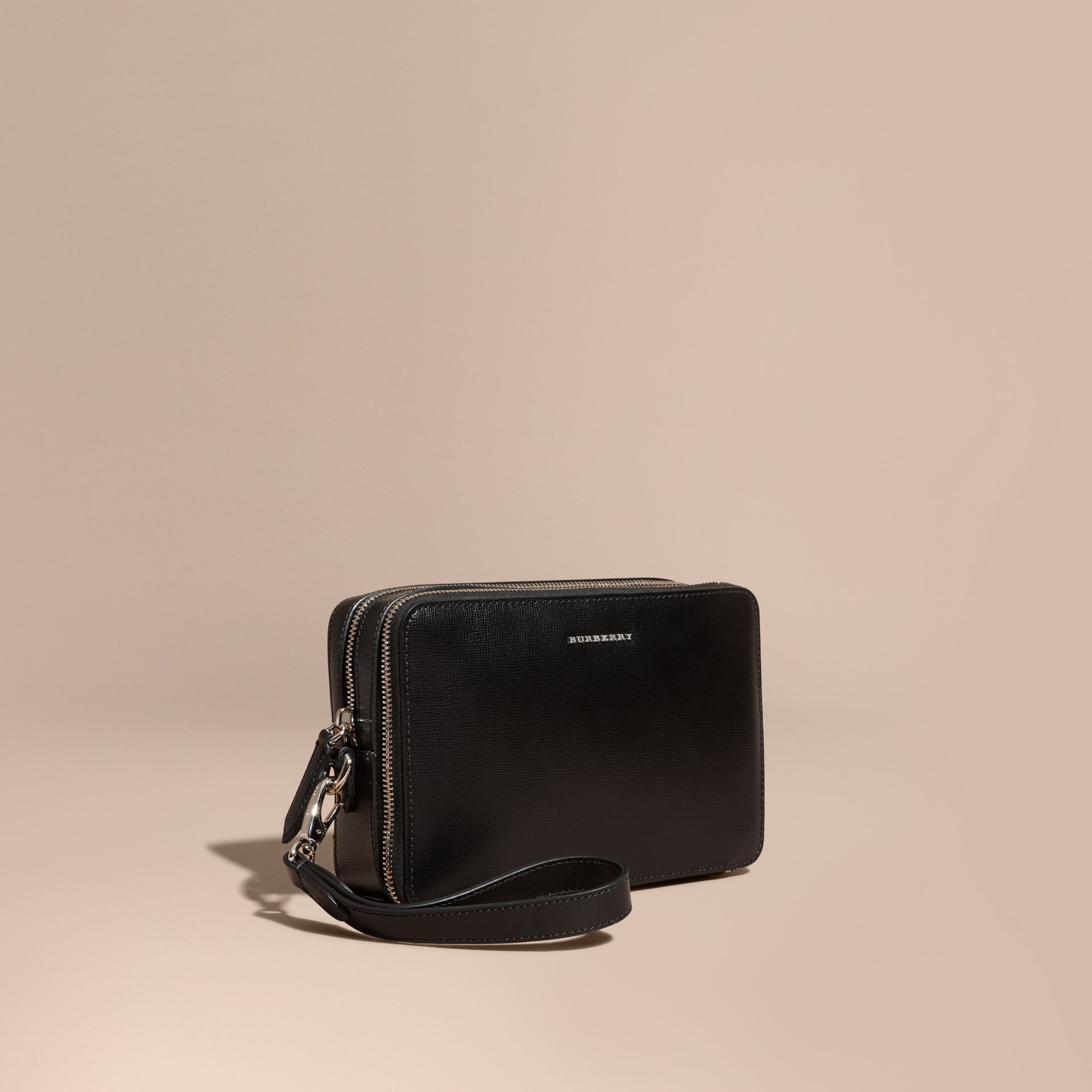 Black London Leather Pouch Black - gallery image 1