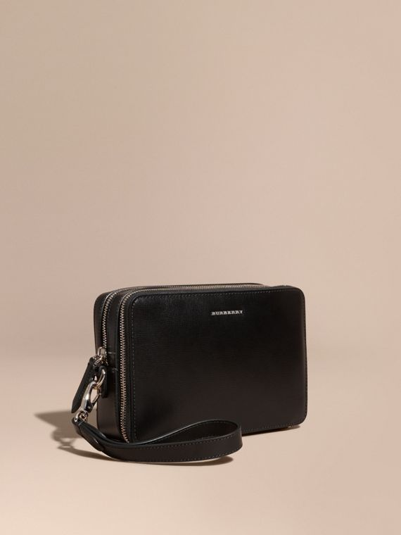 Pochette in pelle London (Nero)