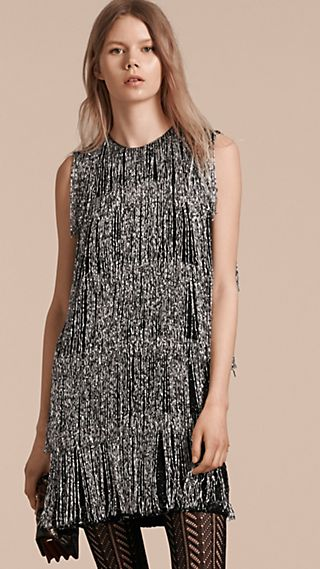 Bead-fringed Silk Dress