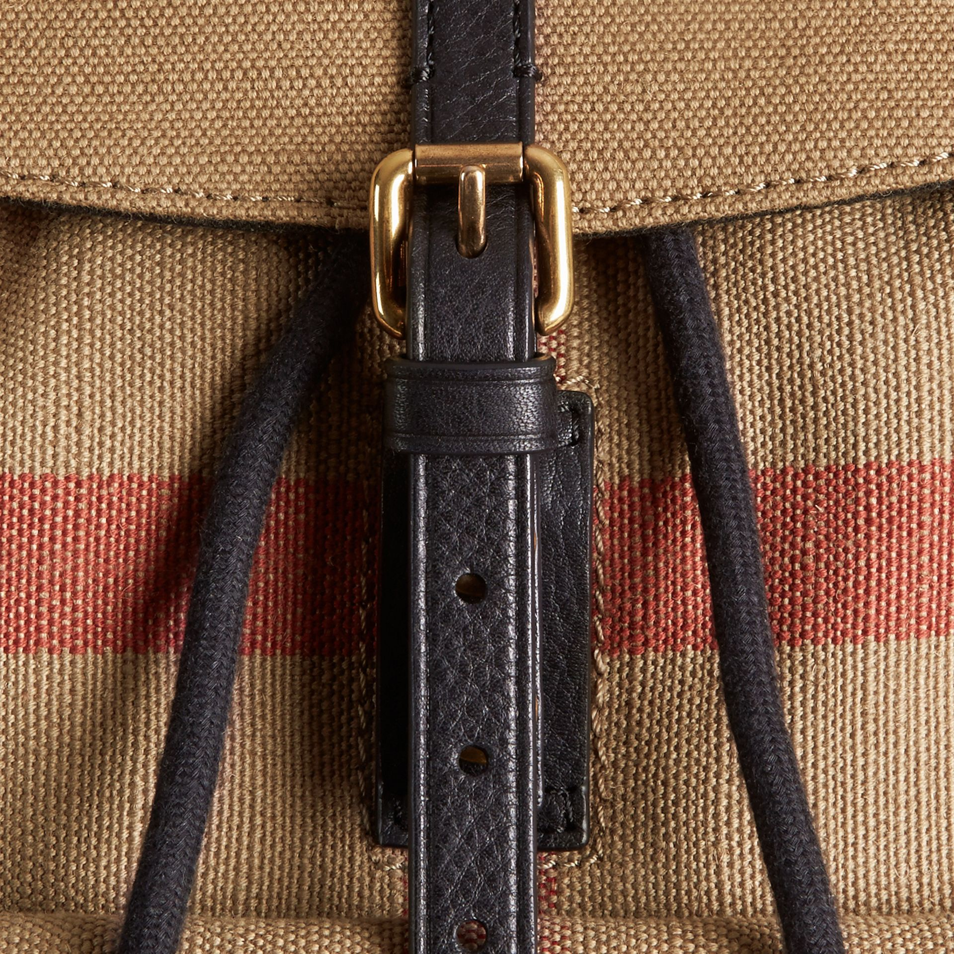 Black Canvas Check Backpack - gallery image 6