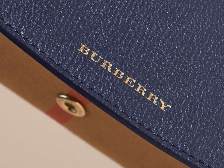 House Check And Leather Continental Wallet in Ink Blue - Women | Burberry - cell image 4