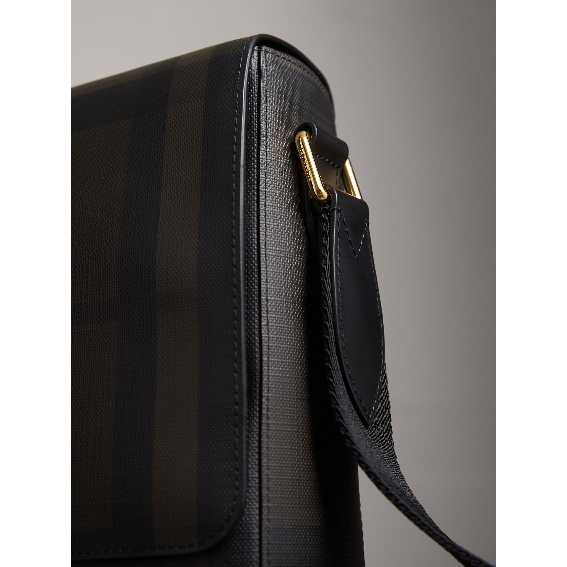 London Check Crossbody Bag in Chocolate/black - Men | Burberry Canada - gallery image 2
