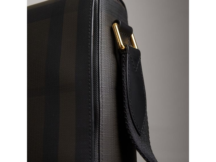 London Check Crossbody Bag in Chocolate/black - Men | Burberry Singapore - cell image 1