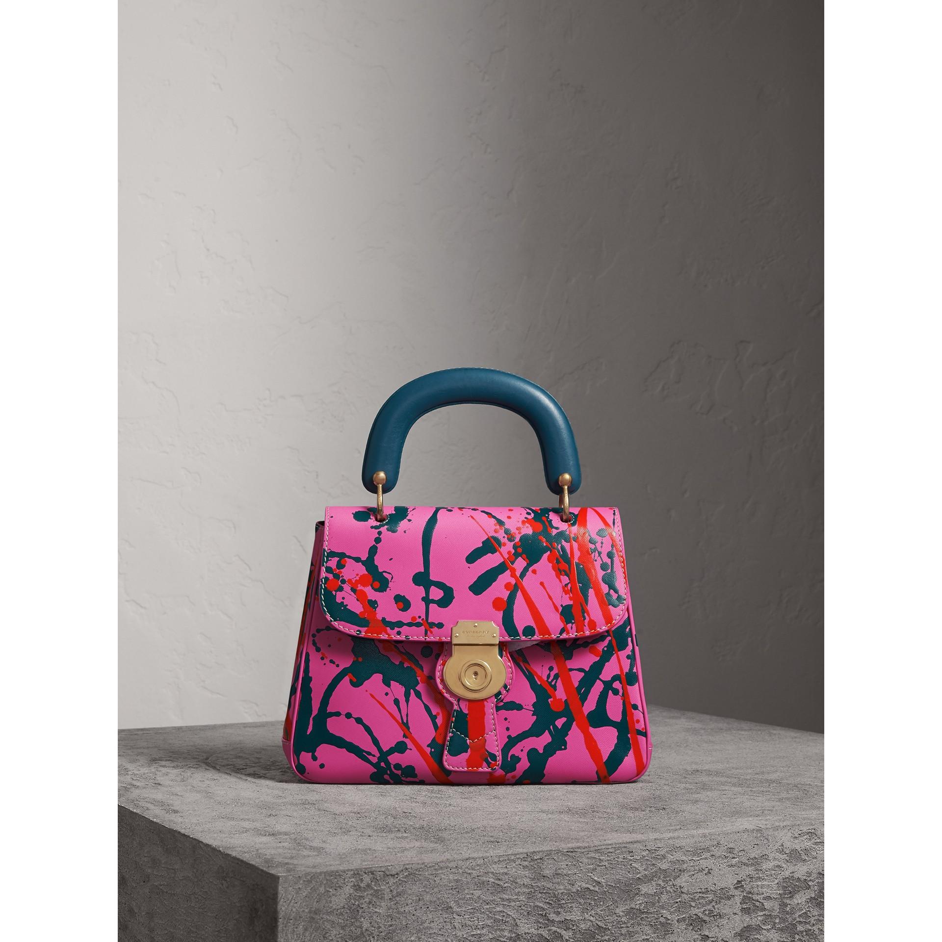 The Medium DK88 Splash Top Handle Bag in Rose Pink - Women | Burberry - gallery image 1