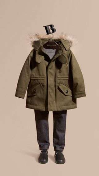 Fur-trimmed Cotton Sateen Parka