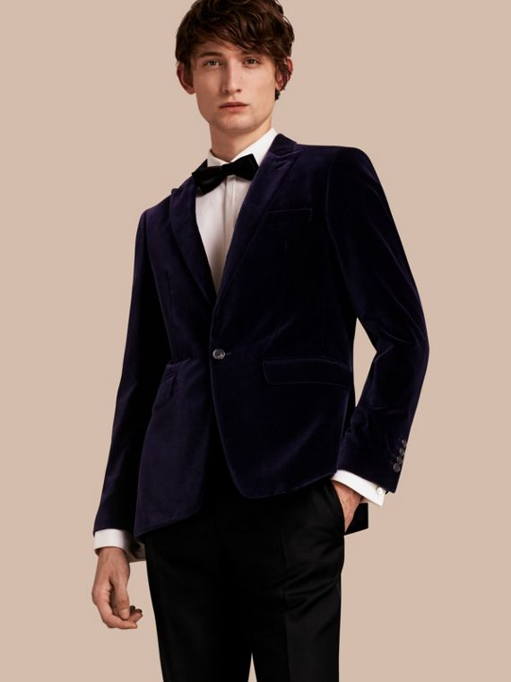 Slim Fit Tailored Velvet Jacket