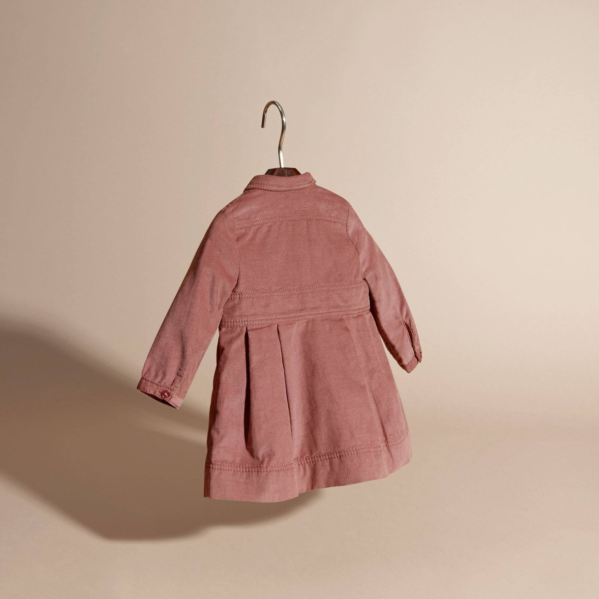 Pale ash rose Cotton Corduroy Shirt Dress Pale Ash Rose - gallery image 4