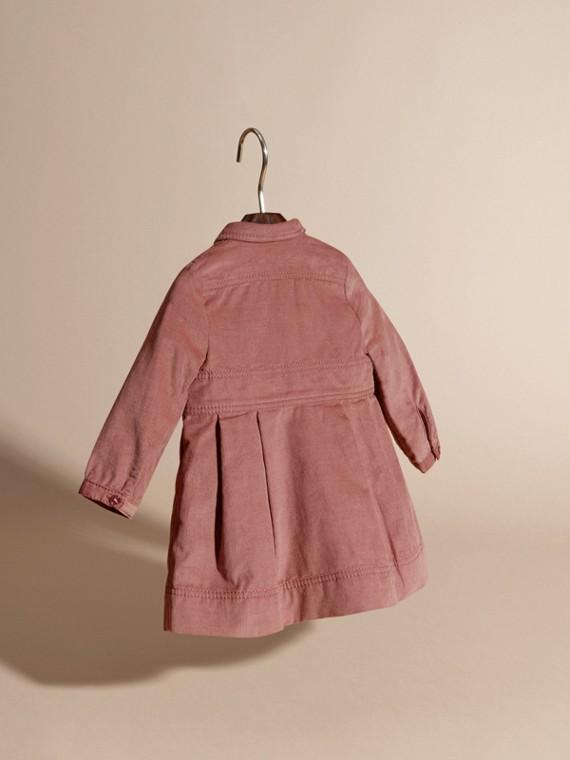Rose cendré pâle Robe chemise en coton côtelé Rose Cendré Pâle - cell image 3