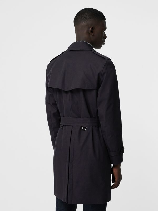 Archive Logo-lined Cotton Gabardine Trench Coat in Midnight - Men | Burberry - cell image 2