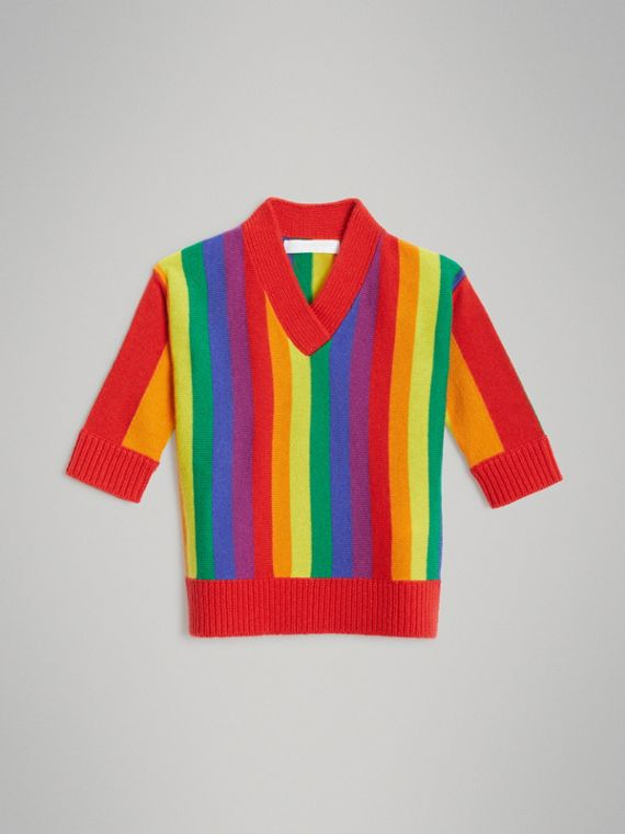 Striped Wool Cashmere Sweater Dress in Multicolour