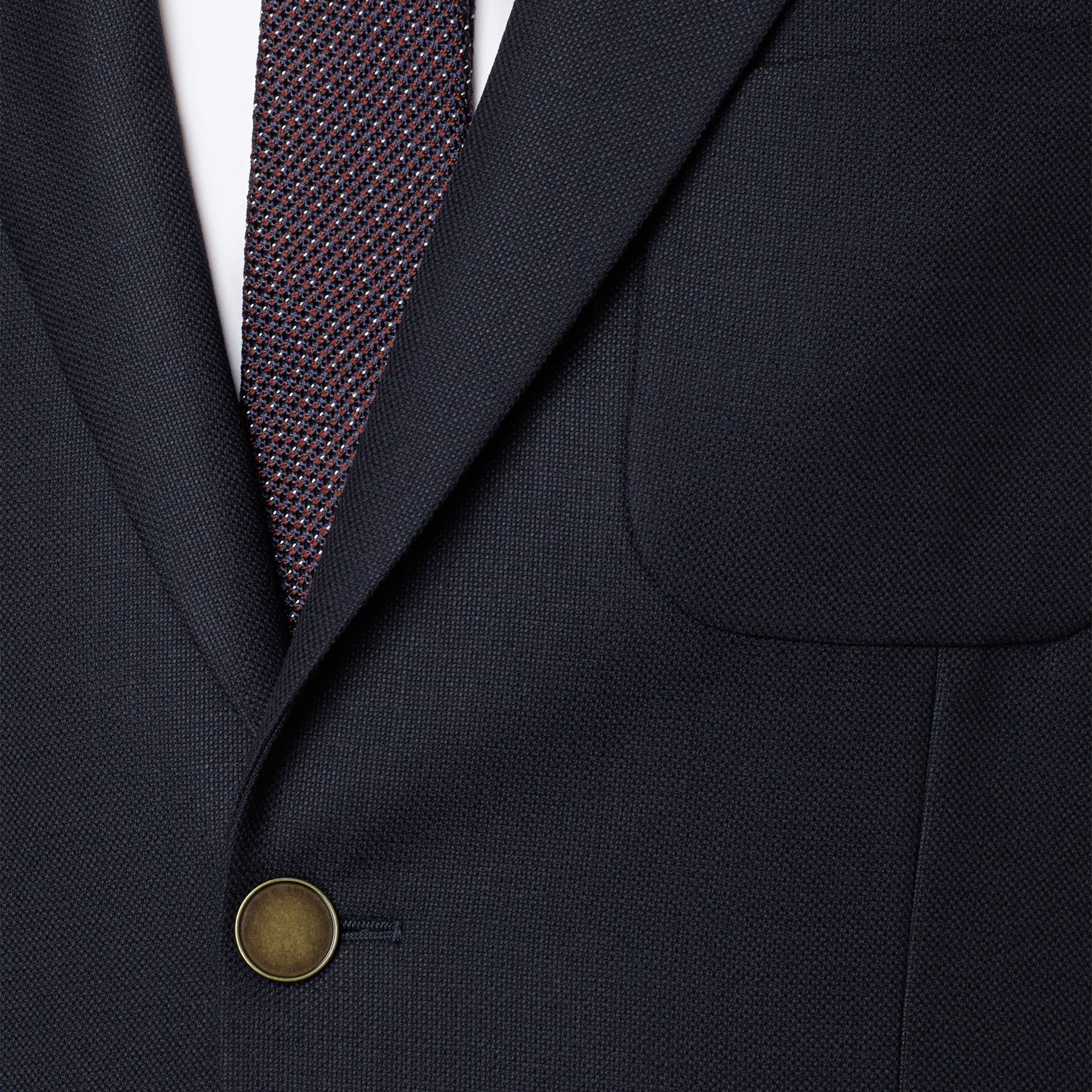 Modern Fit Virgin Wool Half-canvas Jacket in Navy - Men | Burberry - gallery image 2