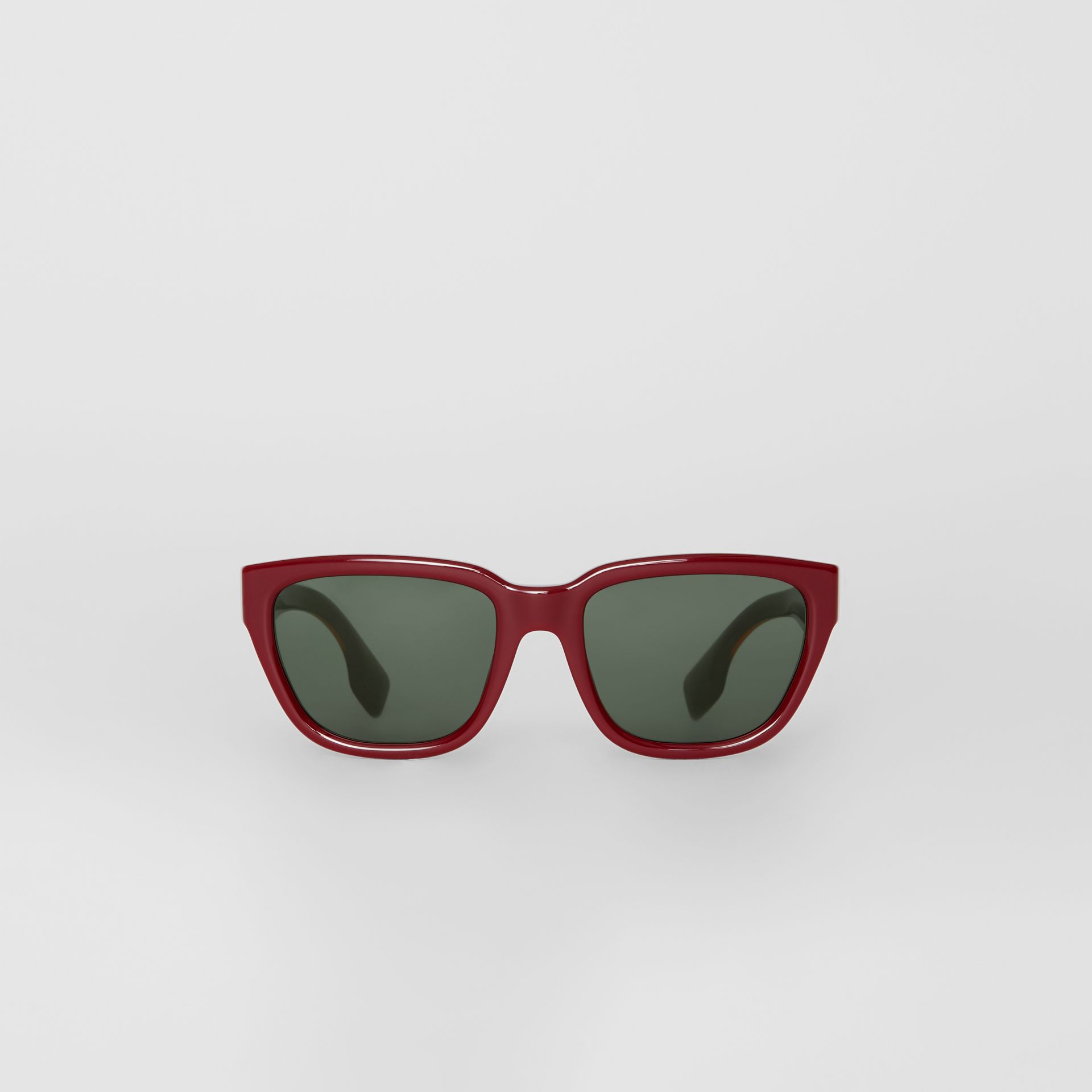 Square Frame Sunglasses in Burgundy - Women | Burberry Hong Kong - gallery image 0