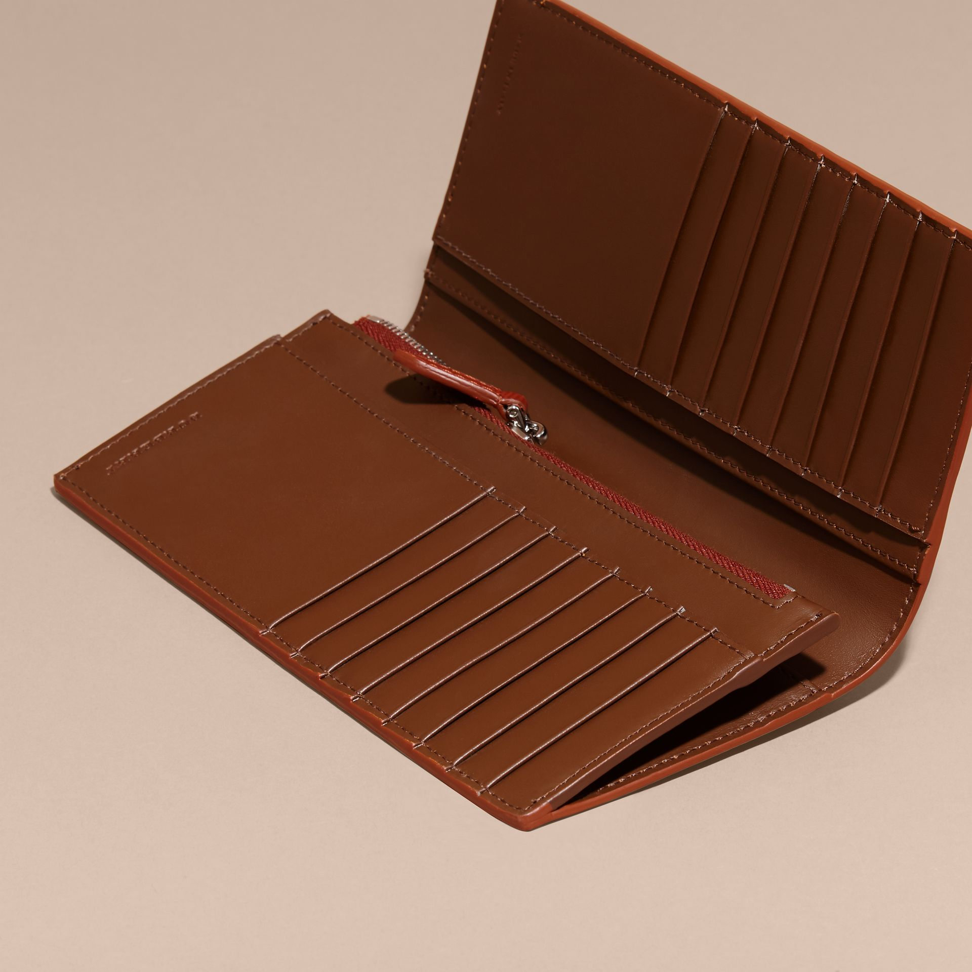 London Leather Continental Wallet Burnt Sienna - gallery image 5