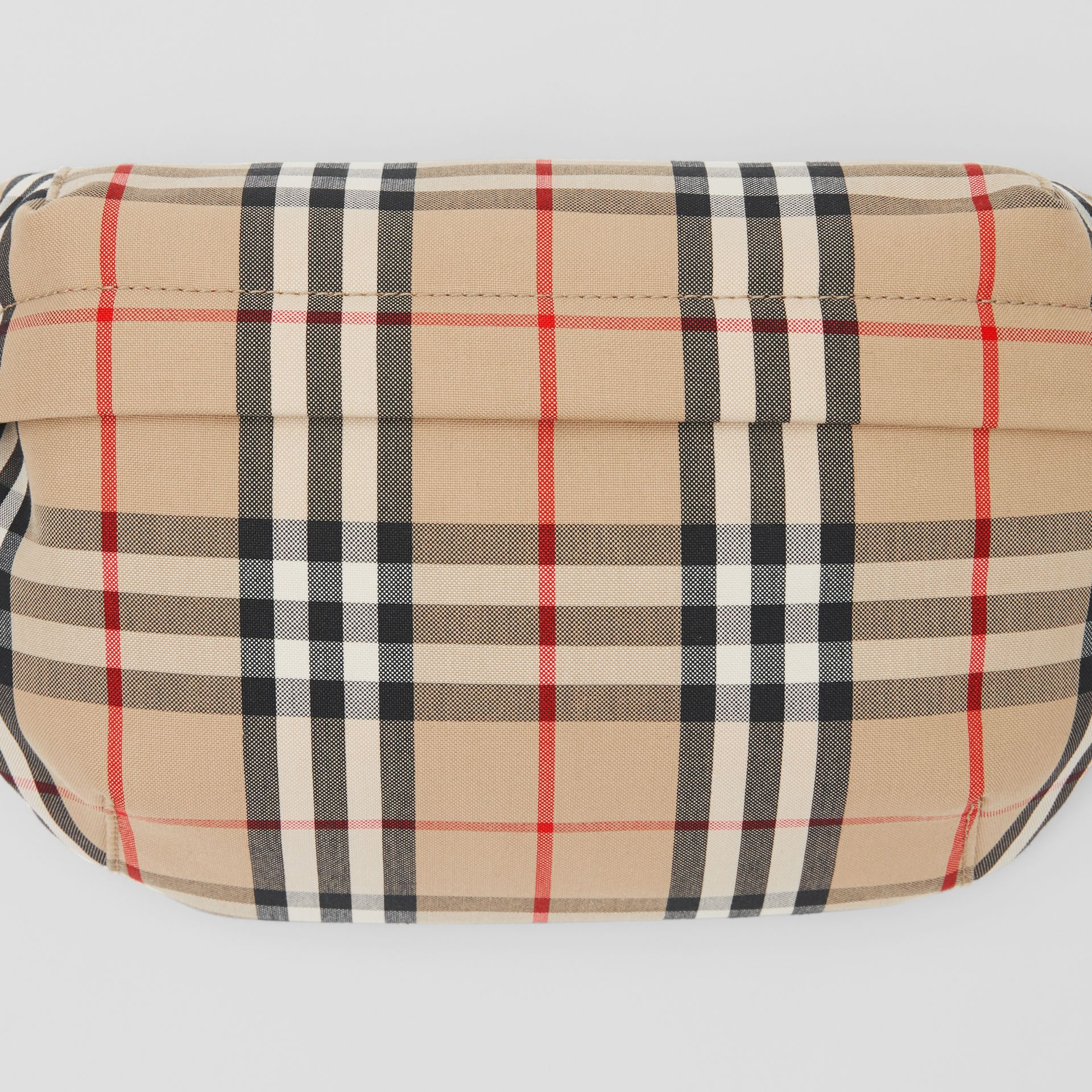 Medium Vintage Check Bonded Cotton Bum Bag in Archive Beige | Burberry - gallery image 1