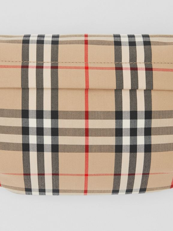 Medium Vintage Check Bonded Cotton Bum Bag in Archive Beige - Men | Burberry - cell image 1