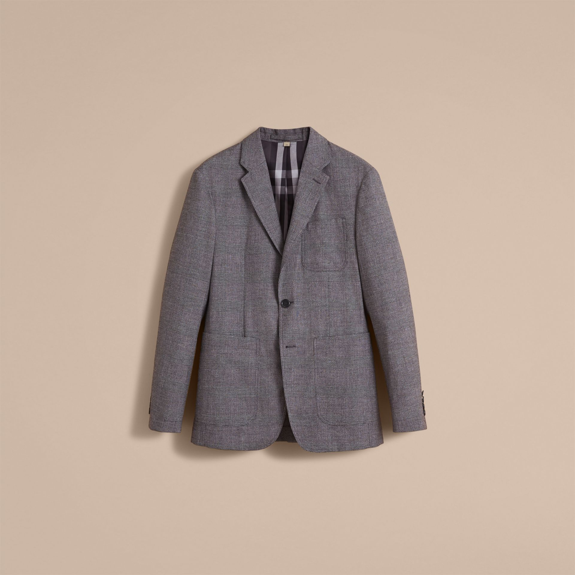 Prince of Wales Cotton Wool Blend Blazer - gallery image 4