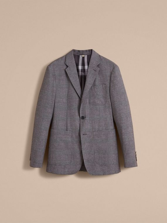 Prince of Wales Cotton Wool Blend Blazer - cell image 3