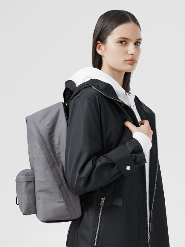 Horseferry Print ECONYL® Backpack in Cloud Grey | Burberry United States - cell image 2
