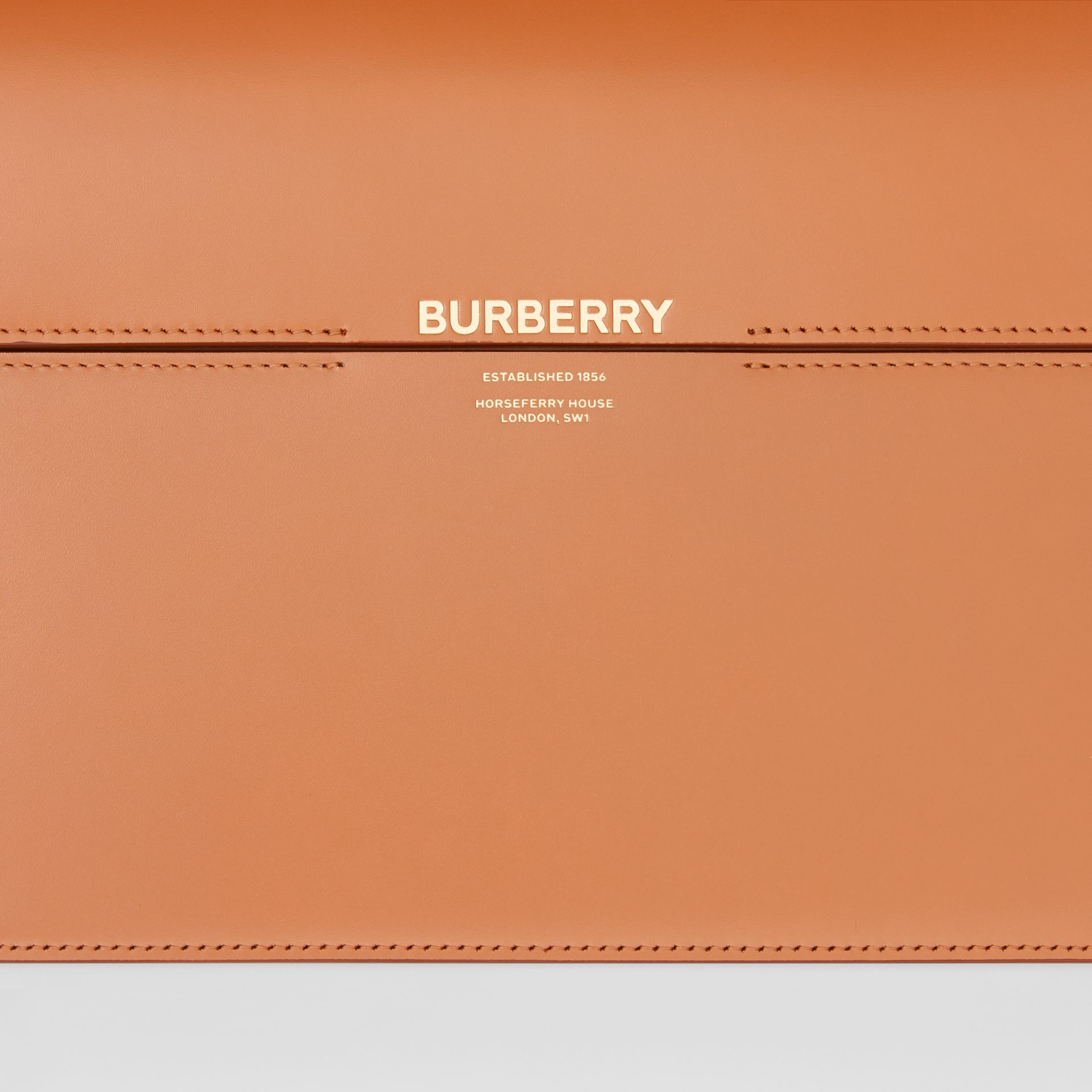Large Two-tone Leather Grace Bag in Nutmeg/pale Blue - Women | Burberry United Kingdom - gallery image 1