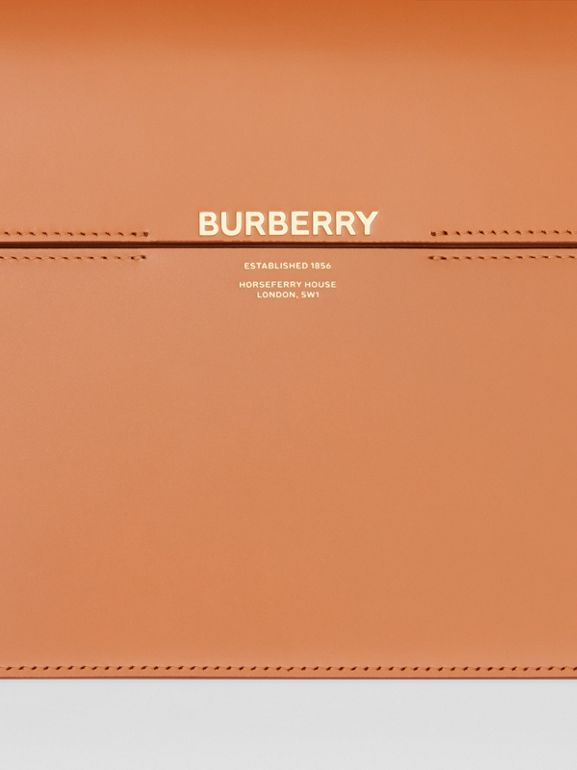 Large Two-tone Leather Grace Bag in Nutmeg/pale Blue - Women | Burberry - cell image 1