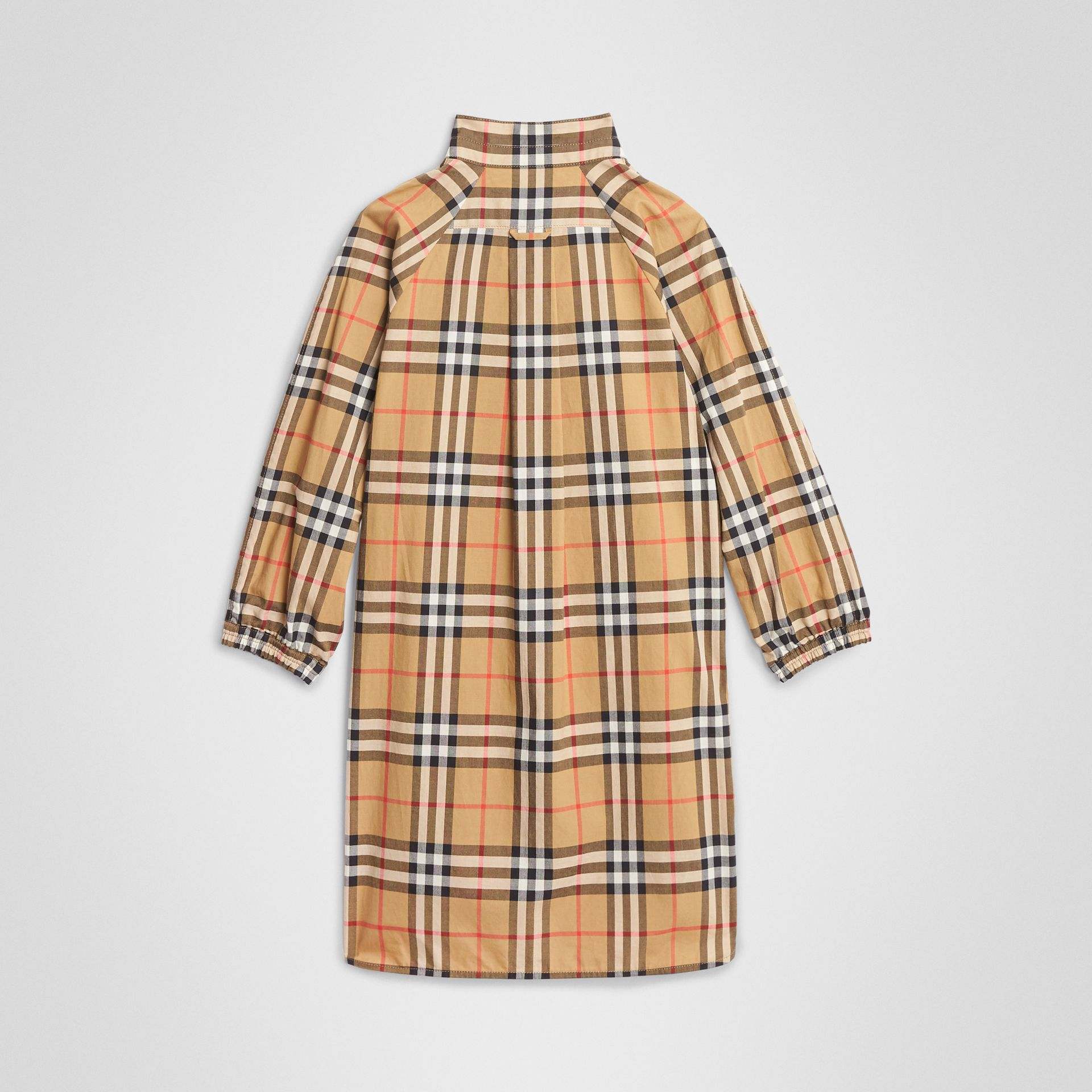 Vintage Check Cotton Shirt Dress in Antique Yellow | Burberry United States - gallery image 3