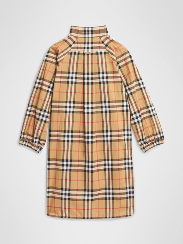 Vintage Check Cotton Shirt Dress in Antique Yellow | Burberry United States - cell image 3