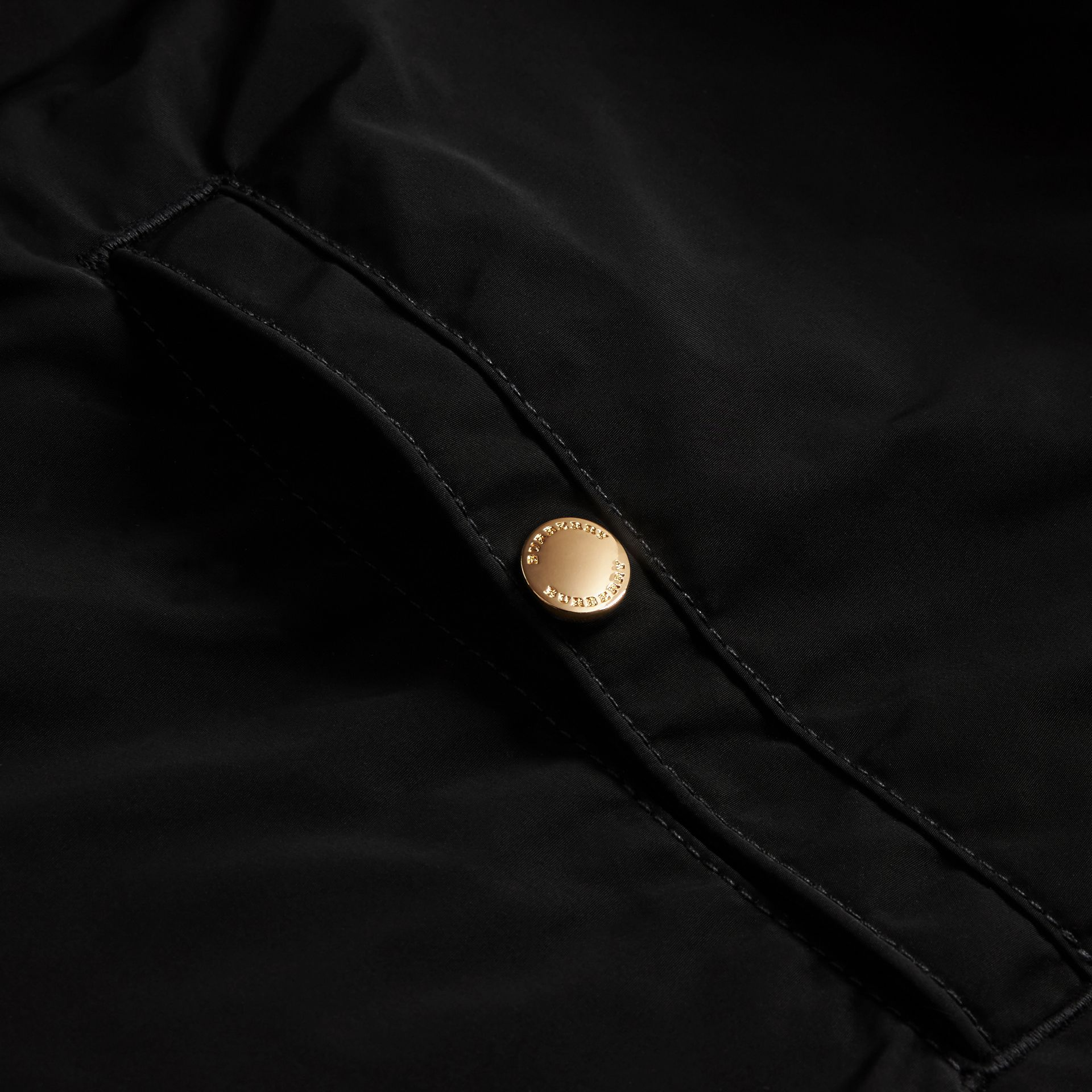 Black Hooded Lightweight Technical Jacket - gallery image 2