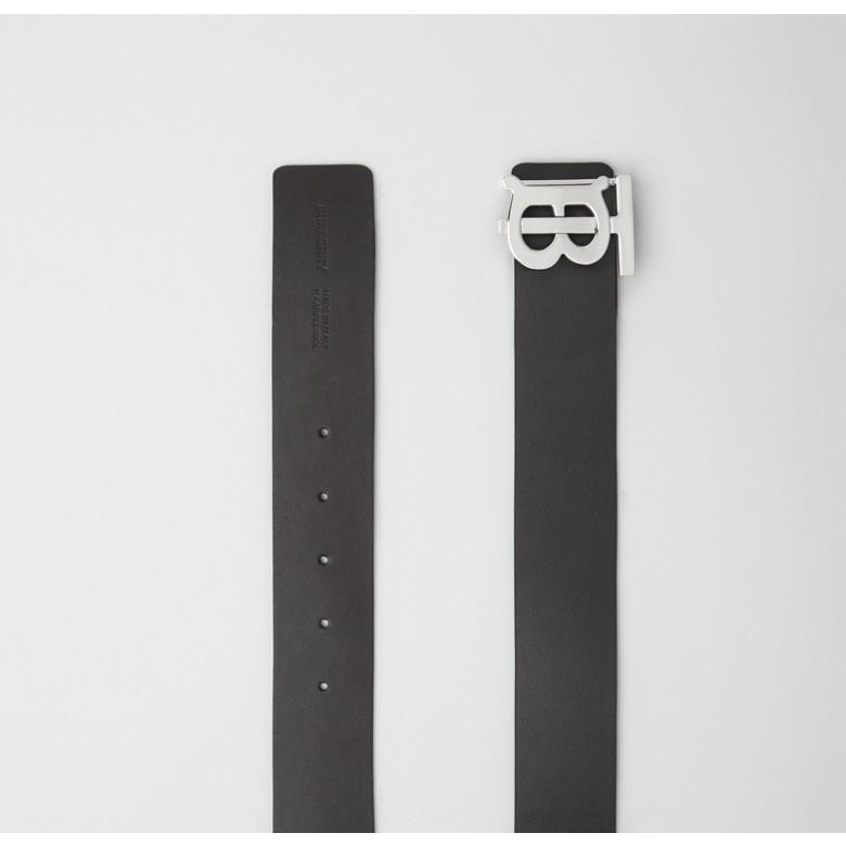 Burberry - Cinturón reversible en piel con monograma - 6