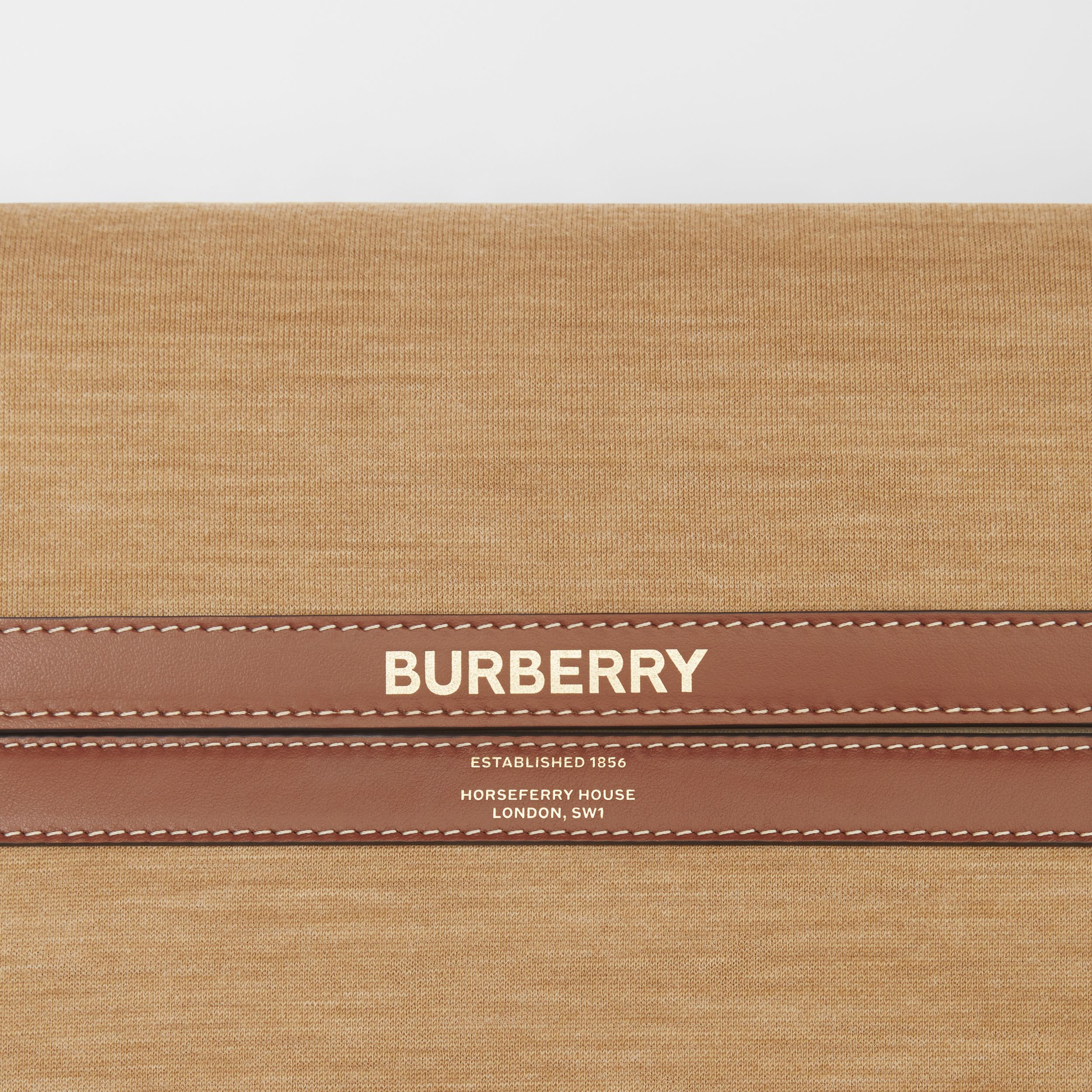 Large Jersey and Leather Grace Bag in Pecan Melange - Women | Burberry Singapore - 2