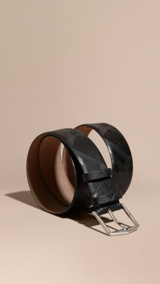 Leather Trim London Check Belt