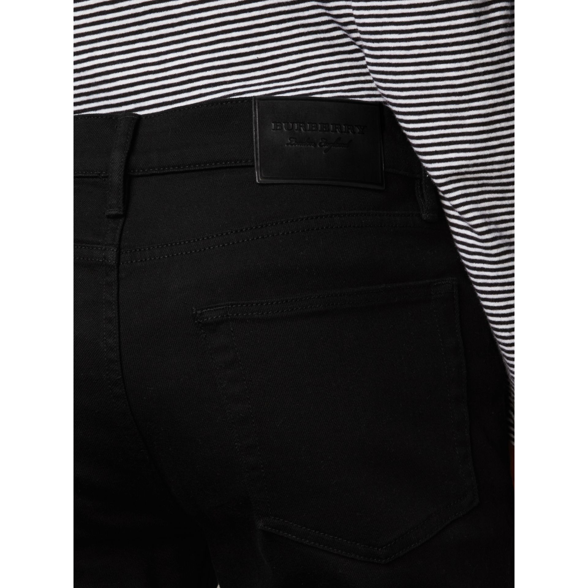 Slim Fit Stretch-denim Jeans in Black - Men | Burberry Hong Kong - gallery image 1