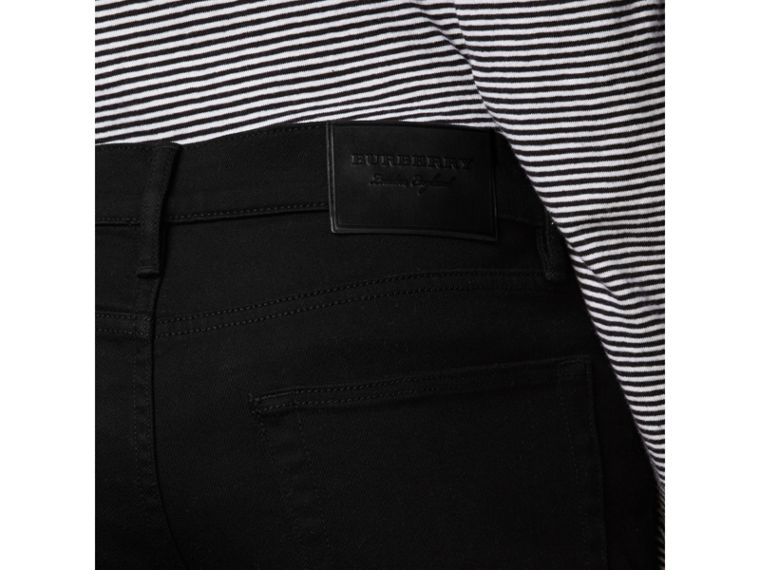 Slim Fit Stretch-denim Jeans in Black - Men | Burberry Australia - cell image 1